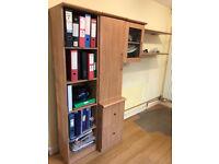 Home Office - 2 Drawer Pedestal , Storage Cabinet, Filing Unit, Glass Display Unit & shelves.