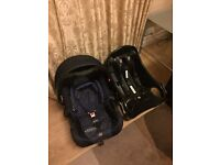 Graco Junior Baby Car Seat and Base - Washable covers - Excellent Condition
