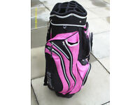 14 DIVISION GOLF CART BAG WITH STRAP AND RAIN COVER