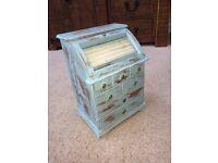 Jewellery box shabby chic blue wooden