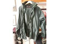 Trespass waterproof dark green golf suit size M
