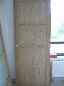 """internal oak veneer 4 panel door, 30"""" x 77 3/4"""""""