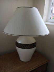 Large Cream decorative heavy lamp