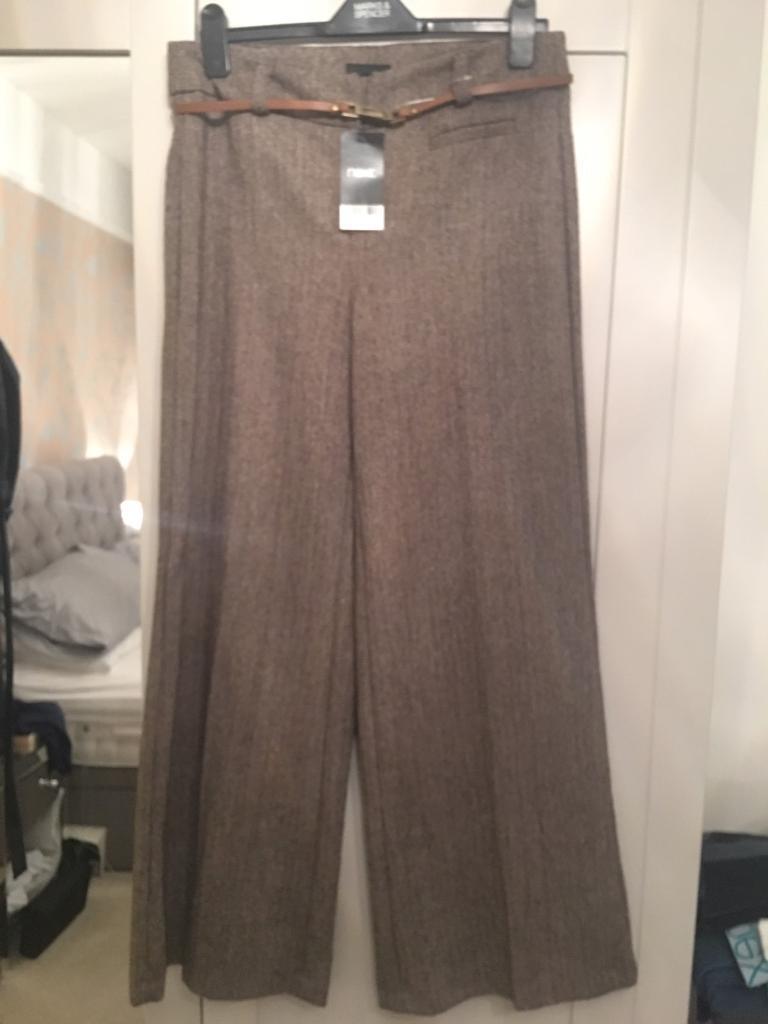 Ladies Next brown trousers NWT