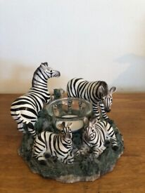 Zebra candle holder ornament