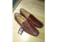Men Casual Shoes Brown Size 8