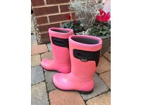 BOGS Insulated Rain Boots PINK Size Euro 33 Youth