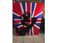Abstract Union Jack canvas