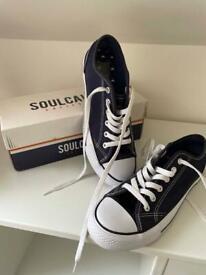 Soul Cal & Co Ladies Navy Canvas Pumps Size 4.5UK 37.5 EU