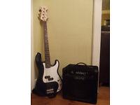 Fender Squier Bass with BT15 Bass Amp