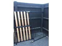 Old vintage style double bed frame
