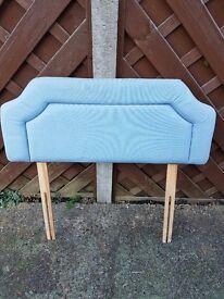 Blue single bed head board
