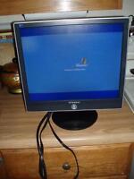 "17"" LCD Monitors /HDTV Monitor Black/Ergonomic Rocking Footrest"