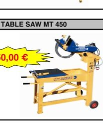Brand New Tile/Brick Cuts Diamant Professional Table Saw. 3 Phase.