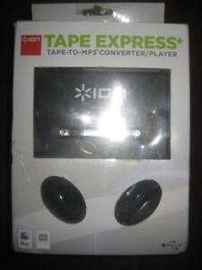 ION Tape Express Analog to Digital Cassette Converter with Headphones / Headset. Transfer Old Music Tapes to Computer