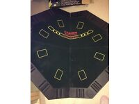 "Tabletop poker table 47"" x 47"" £5.00 folds up neat for storage"
