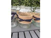 Wedding/garden party jars