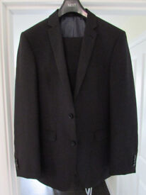 Black Suit 38R Jacket, 34R Trousers - Great Condition, Only Worn Once