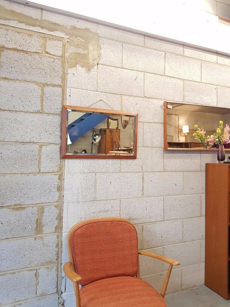 Mid Century Beveled Mirror Retro