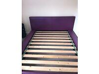 King size lether bed frame
