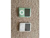 2 ipod nano 1 4gb 1 8gb 20 for 4gb 25 8gb