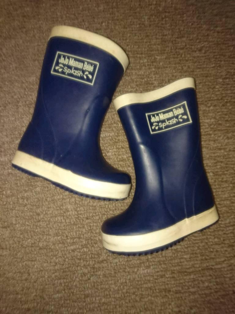 Excellent condition Jojo Maman Bebé Splish Splash Wellies Boots size 3 or 4
