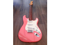 Pink Squier Bullet Stratocaster Electric Guitar