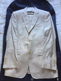 Men's Cream Linen Suit