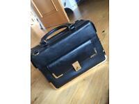 Black Leather Dune Handbag