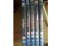 Complete series of Twilight DVD's for sale