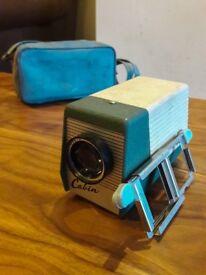 Vintage Beige & Green Cabin Slide Projector 50s/60s With Case/Slides/Plug