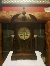 Antique wooden clock