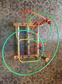 Extra large wooden bead maze