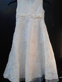shimmery white childs dress