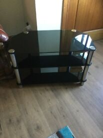 Glass tv unit stand