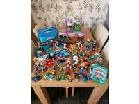 Huge collection of skylanders for xbox one and game...