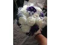 cadbury purple wedding flowers