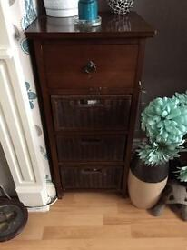 2 x wooden unit with drawers
