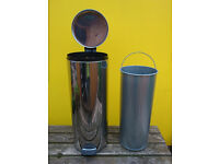 Pedal Bin, 20 Litre 'Slimline' - Brilliant Steel