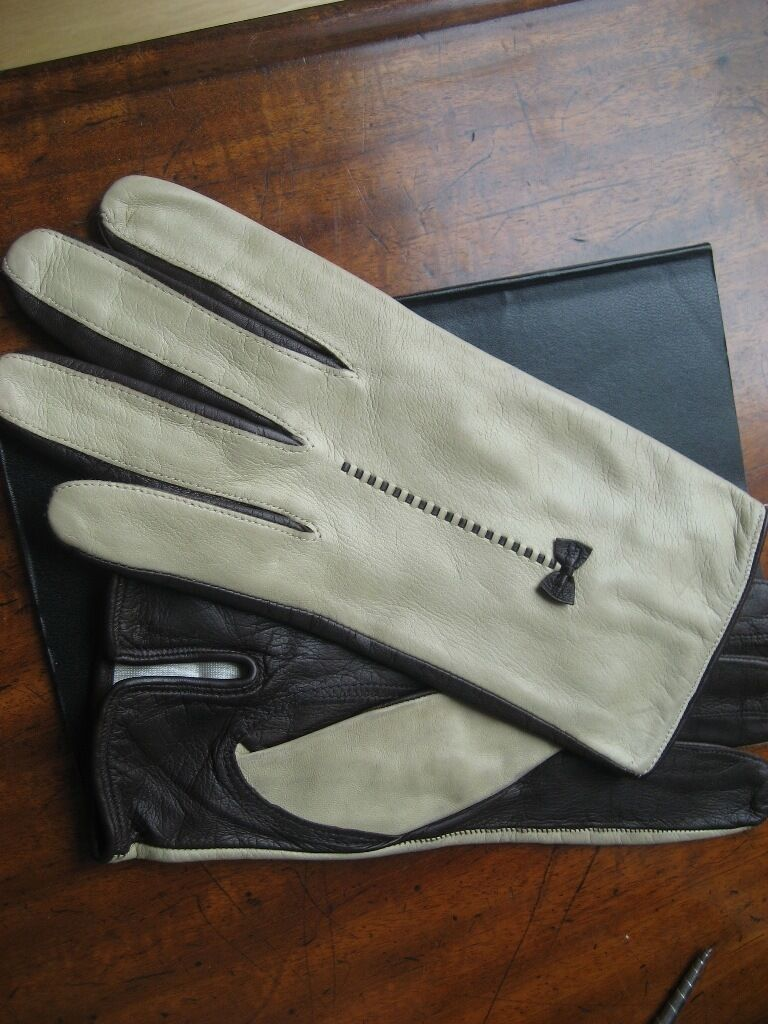 Ladies leather gloves designer - Leather Gloves Escada Designer Ladies Size 7 Gorgeous Leather