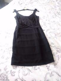 Ladies black fitted dress