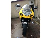 suzuki gsxr 600 k1 yellow and black