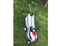 Honda hr17 petrol lawnmower with grass box