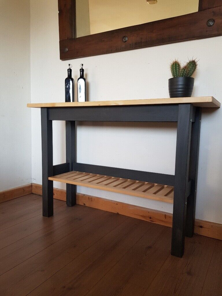 Wooden Kitchen Hallway Bathroom Console Table Rustic Charcoal Local Delivery In Hammersmith London Gumtree