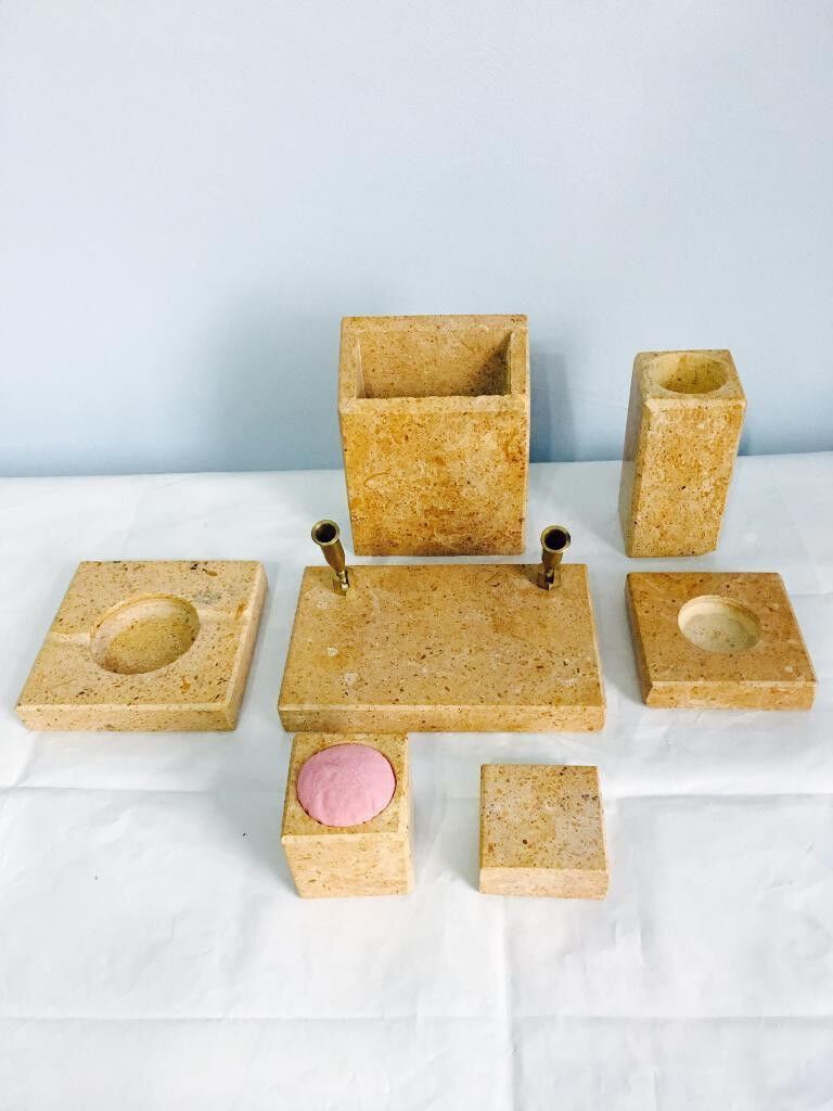 Brand new granite penholders etc.set with desk accessories, bargain at only £45
