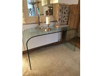 Glass console tables and more