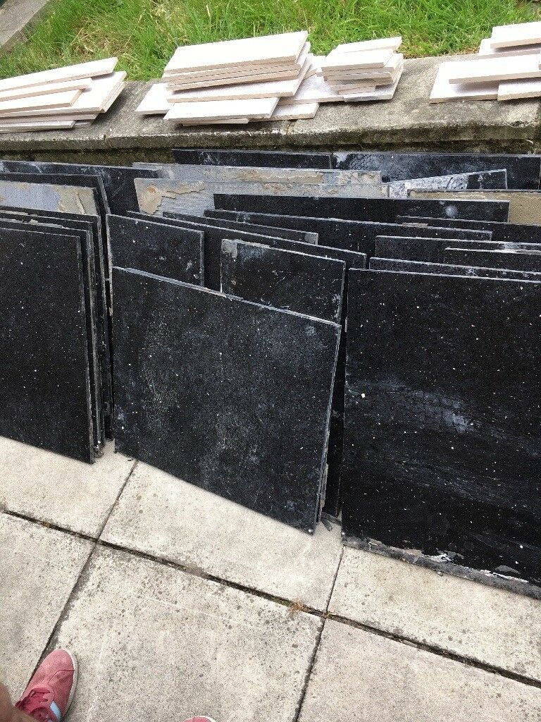 Black With Sparkles Granite Floor Tiles In Birstall West