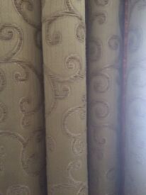 Luxury Gold Fabric Curtains