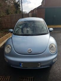 Beautiful Ice Blue Beetle 2005. 2ltr Petrol. genuine reason for sale. I can no longer drive.