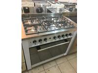 White and silver gas range cooker very rare